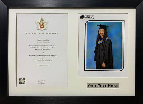"""Graduation Picture Photo Frames 10"""" x 8"""" Photograp A4 Certificate 40mm Moulding"""