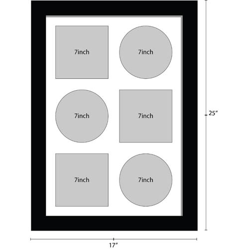 7 inches Vinyl Record Frame for 3x records and 3x Sleeves Music Memorabilia Frame