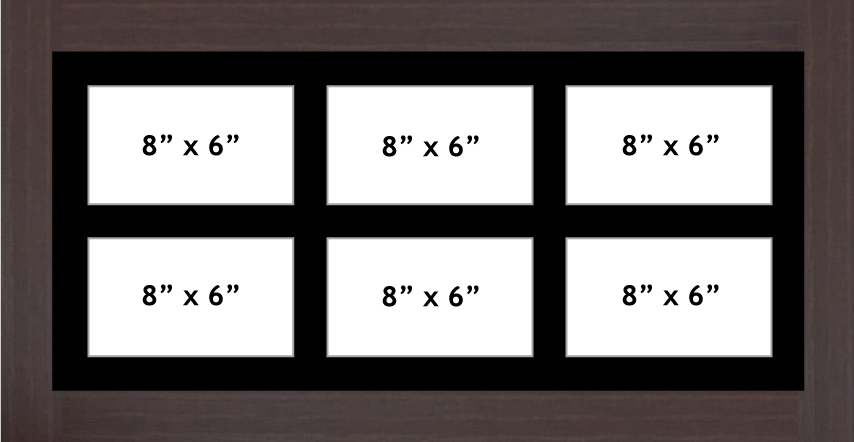 Multi Aperture Photo frame fits 6 8x6 photos multi-picture frames
