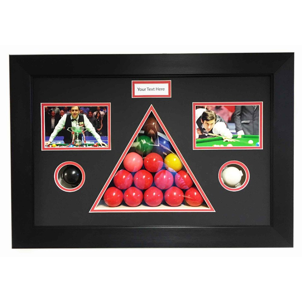 Snooker Memorabilia 3D Display Box Frame, For All In One Snooker Balls In Triangle Frame Cut Out – Signed Photos And Title