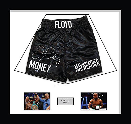 "Boxing Shorts Frame Display for Floyd Mayweather Shorts Frame. with Free 2 x 6"" x 4"" Photos"