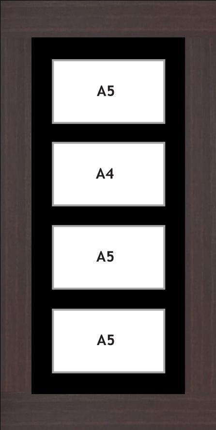 Multi Aperture Photo frame fits 4 A5 photos multi-picture frames