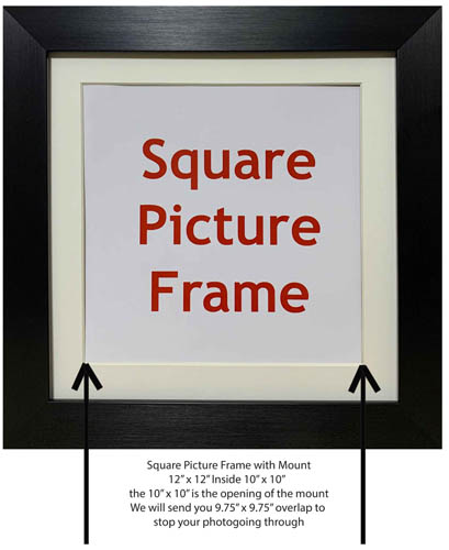 Square Picture Frames, Photos Frames, Art Prints, Poster Frame Available in different mount colours and sizes.