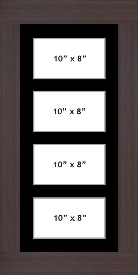 Multi Aperture Photo frame fits 4 10x8 photos multi-picture frames