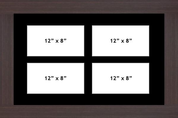 Multi Aperture picture frame fits 4 12x8 photos frames landscape