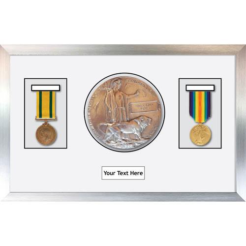 Medal Frame 3D Box Display Frame for World War Military Medals & Memorial Plaque
