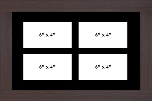 Multi Aperture picture frame fits 4 6x4 photos frames landscape