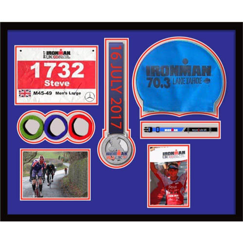3D Frame For Ironman, Triathlon Marathon, Running Medal And Number, Caps, Photo And Title