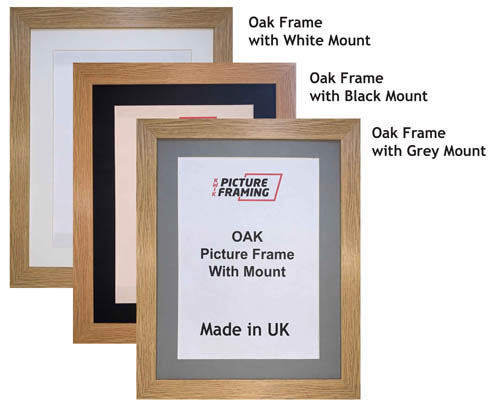Oak Picture Frame with Mount