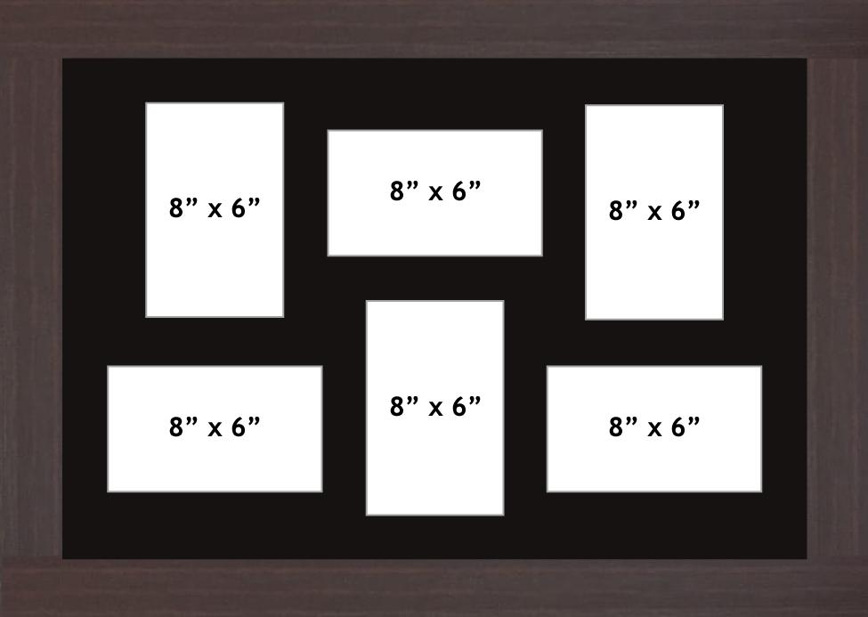 Multi Aperture picture frame fits 6 8x6 photos frames