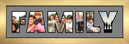 FAMILY Photo Frame Personalised Name Frame | FAMILY Word Photo 3D Frame For FAMILY