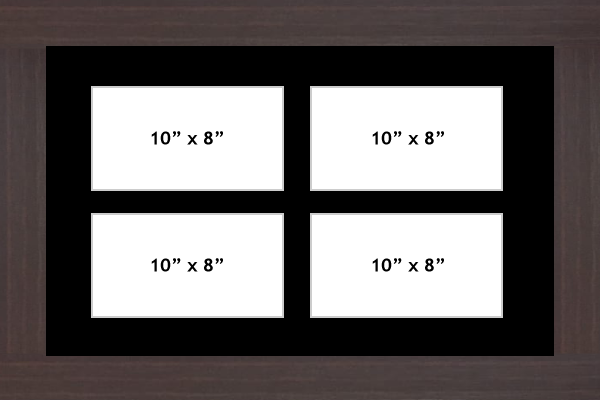Multi Aperture picture frame fits 4 10x8 photos frames landscape