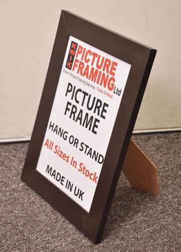 Flat Chocolate Brown Picture Frame ( All Sizes Available)