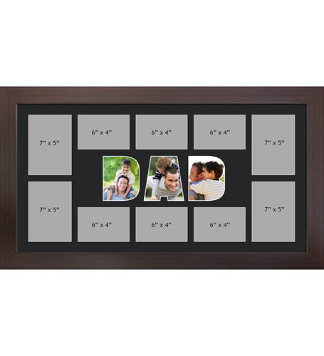 DAD Photo Frame Personalised Name Frames | Large Multi DAD Word Photo 3D Frame