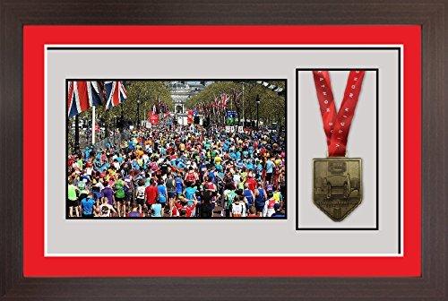 "3D Frame For Ironman, Triathlon Marathon, Running Medal And Photo Display Frame - 8"" X 6"""