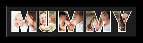 Mummy Photo Frame Personalised Name Frame | MUMMY Word Photo 3D Frame For MUMMY