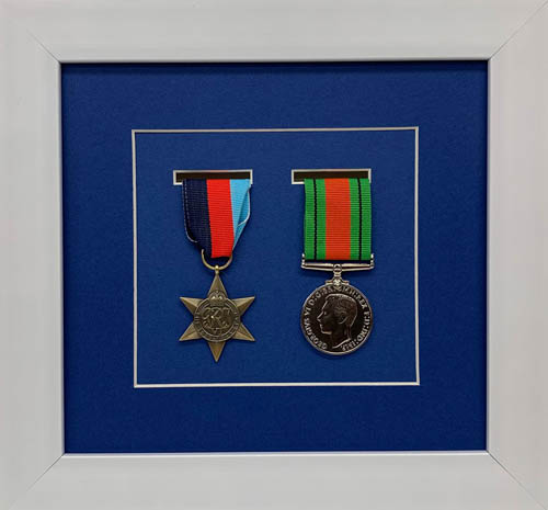 Military / War / Sports Medal 3D Box Picture Frame Fits Two Medal