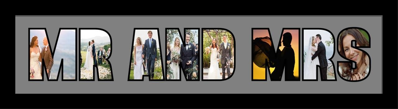 MR AND MRS PHOTO Frame Personalised Name Frame | MR AND MRS Word PHOTO 3D Frame For MR AND MRS