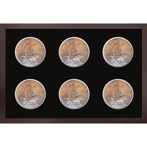 6X Memorial Plaque Medal Frame 3D Box Display Frame For World War Military Memorial Plaque