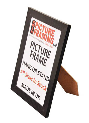 Flat Black Picture Frames 30mm All Sizes Available