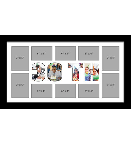 30TH Photo Frame Personalised 30TH Frame | Large Multi 30TH Word Photo 3D Frame