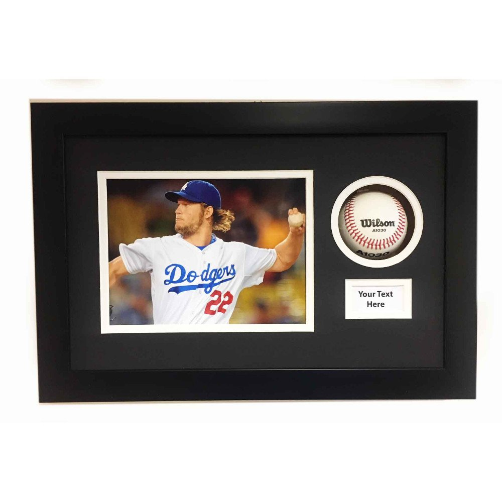 BASEBALL BALL DISPLAY CASE 3D FRAME FOR SIGNED BASEBALL, PHOTO AND TITLE