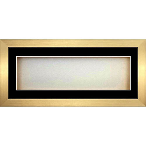 Rectangle 3D Cube Panoramic Box Frames For Baby Cast - Black Mount With Gold Frame