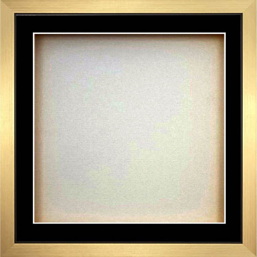 3D Square Box Frames For Baby Cast - Black Mount With Gold Frame