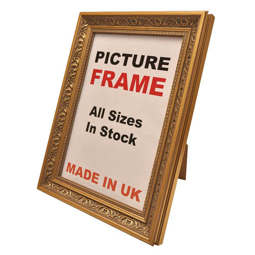 Antique Embossed Gold Picture Frame