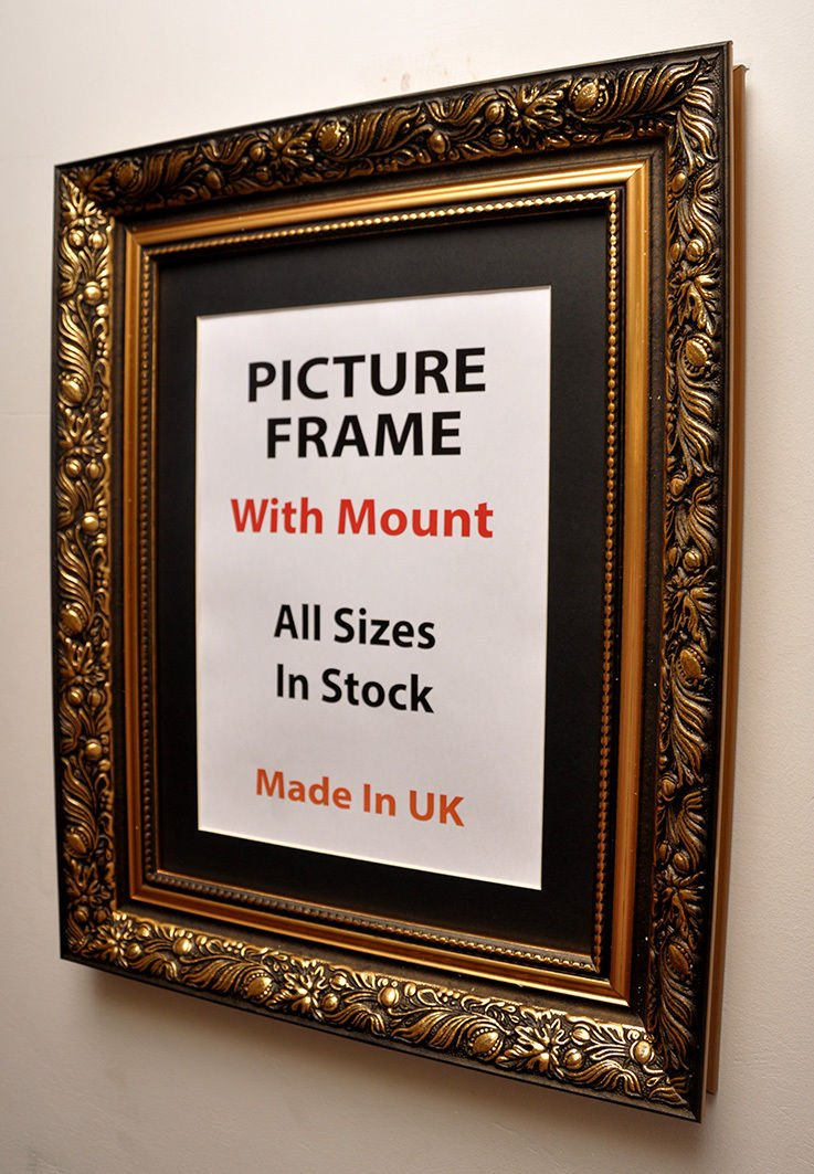 40 mm Antique Gold Picture Frame with Multiple Mount