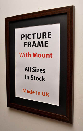 30 mm Mahogany Picture Frame With Multiple Mount