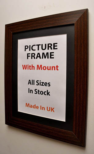 40 mm Mahogany Picture Frame With Multiple Mount