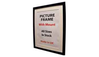 PICTURE FRAME WITH MOUNT